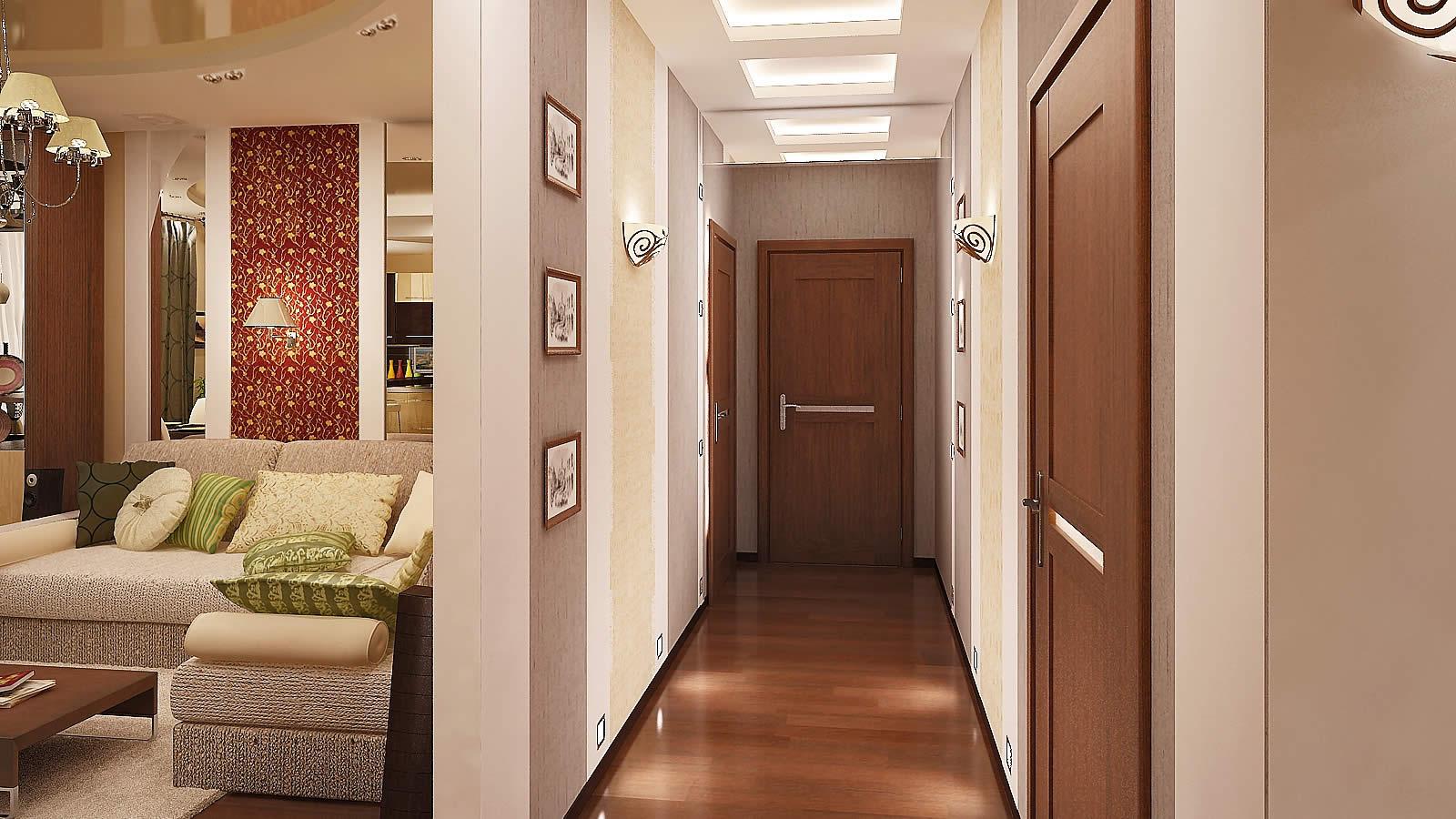 прихожая и коридор в доме дизайн фото #10